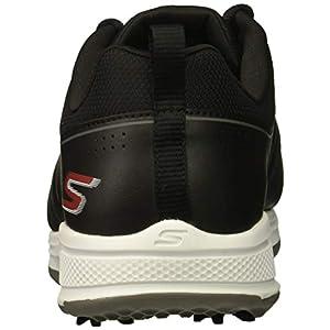 Skechers Go Golf Men's Torque Waterproof Golf Shoe, Black/red, 11 W US