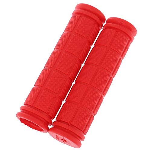 Houer rubberen fietsstuurgrepen Cover MTB Mountainbike-handgrepen Anti-slip fietsen Bargrepen Fixed Gear Bicycle, rood