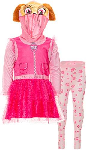 Nickelodeon Paw Patrol Skye Toddler Girl Hooded Costume Dress Leggings Set Pink 4T