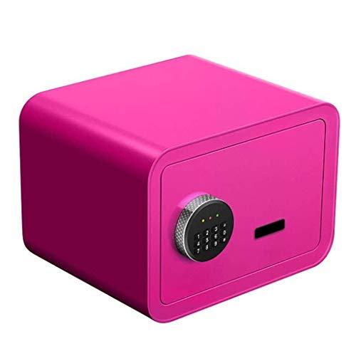 RTYUI Caja fuerte digital segura para el hogar, con estructura de doble capa, hecha de acero de aleación de micro carbono, adecuado para oficina/hogar, caja fuerte de 25 cm de alto (color: azul)