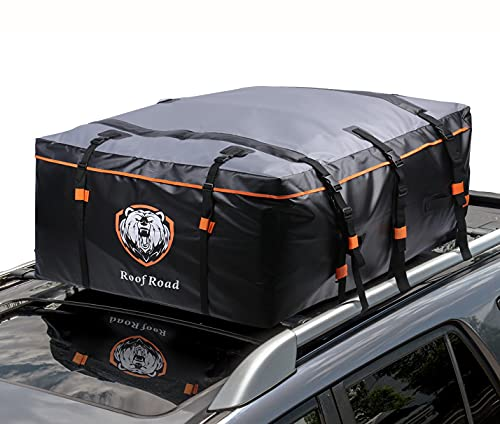 Waterproof 15 Cubic Feet Rooftop Cargo Carrier PRO - Heavy Duty Roof Top Luggage Storage Bag with...