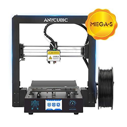 ANYCUBIC Stampante 3D i3 Mega S Dimensioni di stampa 210 x 210 x 205mm equipaggiata con piatto di stampa Ultrabase e Display Touchscreen da 3,5 per TPU PLA