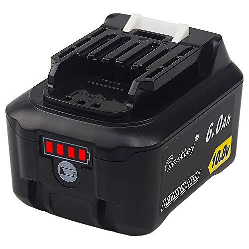 QUPER - Baterías de repuesto de iones de litio de 10.8V 6.0Ah bl1015 Compatible con Makita DC10SA, DC10WC, JR103DZ, TD110DZ, HS301DZ, CP100DZ, CG100DZA, MR052, DF331DZ, DF033DZ.