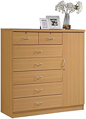 Amazon.com: Jn.widetrade - Armario de madera de haya, 4 ...