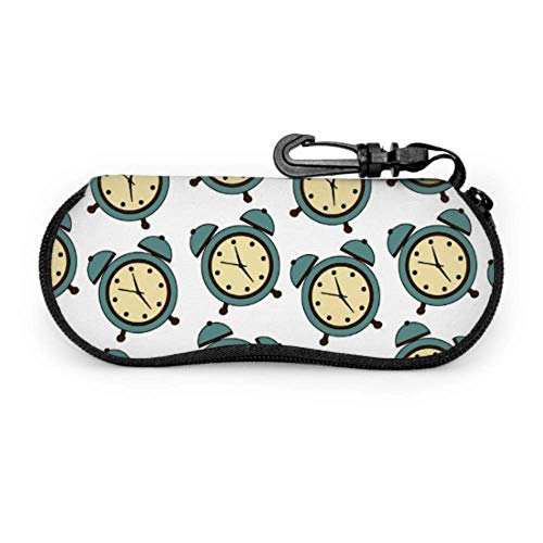 Compact Alarm Clock Weak Up Tool Best Glasses Case Art Sunglass Case Light Portable Neoprene Zipper Soft Case Kid Sunglass Case