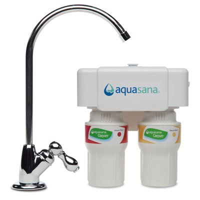 Aquasana 2-Stage Under Sink Water Filter System with Chrome Faucet