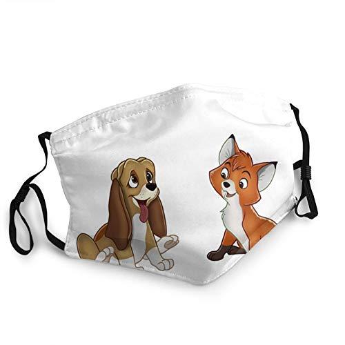 The Fox and The Hound Waschbar Maske Bandana Lustige Multifunktionstuch Herren Damen Atmungsaktive Stoffmask Mund und Nasenschutz Staubdicht Motorrad Halstuch