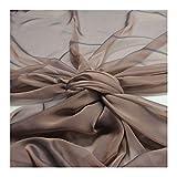 Stoff am Stück Stoff Polyester Changeant Chiffon braun