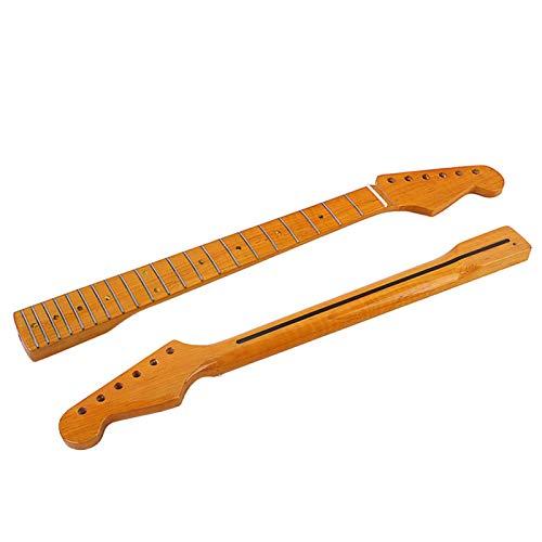 Manico per chitarra elettrica AOLYDA, strumento orchestrale Ricambio di parti del manico per tastiera a 21 tasti in legno elegante per chitarra elettrica ST