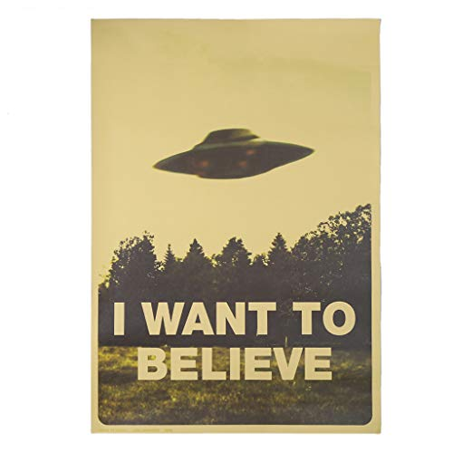 Fafalloagrron Vintage Poster I Want to Believe Poster Bar Home Decor Kraft Wandtattoo