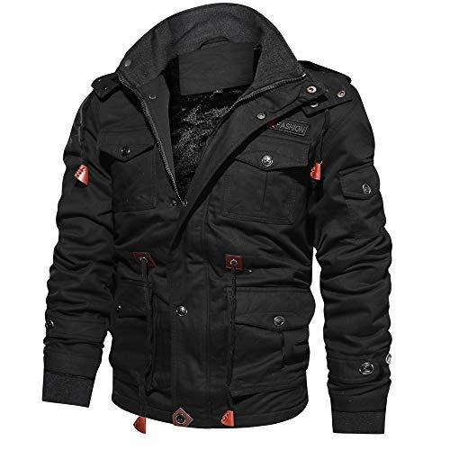 DAY8 Manteau Homme Hiver Chaud Épais Vêtement Homme Pas Cher a la Mode Pull Veste de Moto pour Hommes Blouson de Motard Zippe Homme Grande Taille Automne Trench Coat Outwear
