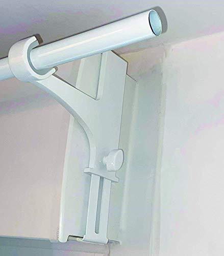 artapisserie.fr 2 Supports sans Perçage pour Tringle à Rideaux ø20-28mm spécial Coffre de Volet Roulant Hauteur 14-24 cm