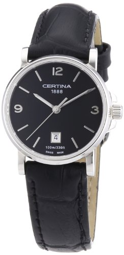 Certina Damen-Armbanduhr XS Analog Quarz Leder C017.210.16.057.00