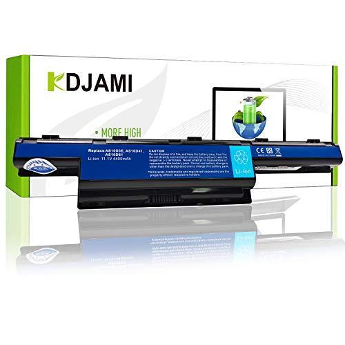 KDJAMI Batería de Repuesto AS10D31 AS10D3E AS10D41 AS10D51 AS10D61 AS10D71 AS10D73 AS10D75 AS10D81 Batería para Acer / eMachines / Packard Bell Ordenador (6 Celdas 4400mAh 11.1V )