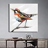 yhyxll Moderne Vogelölgemälde drucken auf Leinwand große