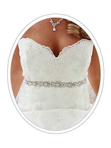 Ushiny Strass Ceinture De Mariage Cristal Ceintures De Mariée Perle Ceinture De Mariage Pour Robe (Rose)