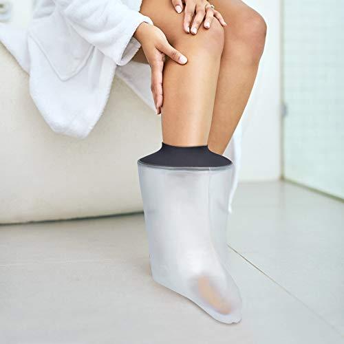 Cubierta de pie impermeable para adultos, resistentes al agua, para duchas, vendaje de escayola, para roto, lesiones de tobillo, recuperación de cirugía cuando se bañan para mujeres y hombres