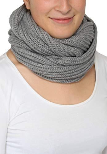 Giorgio Rimaldi sciarpa tubolare per donna e uomo - 35 x 50 cm - Sciarpa ad anello a maglia - Sciarpa invernale liscia - Calda e morbida - Sciarpa a naso a bocca rotonda