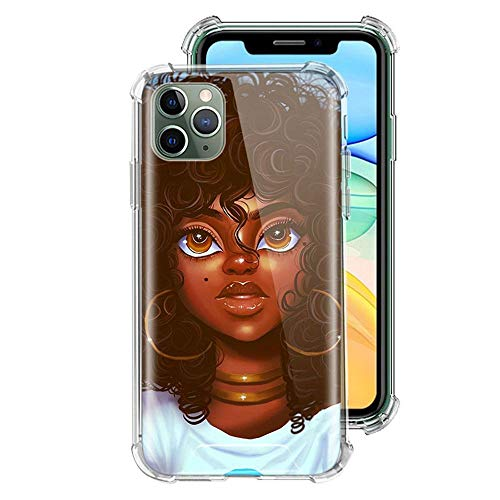 ZENGMING Black Girl Melanin Poppin Case For Apple iPhone Clear Soft Airbag Anti Phone Cover A03 For Funda iPhone 6 Plus (iPhone 6S Plus)