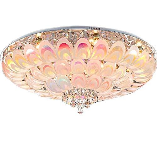 Deckenlampe Badlampe Deckenleuchte Gang Kristalllampe runde Deckenlampe einfacher Raum Schlafzimmer Deckenlampe Niedervolt Kristall Deckenlampe (Größe: 400)