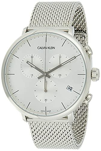 Calvin Klein Orologio Cronografo Quarzo Unisex Adulto con Cinturino in Acciaio Inox K8M27126