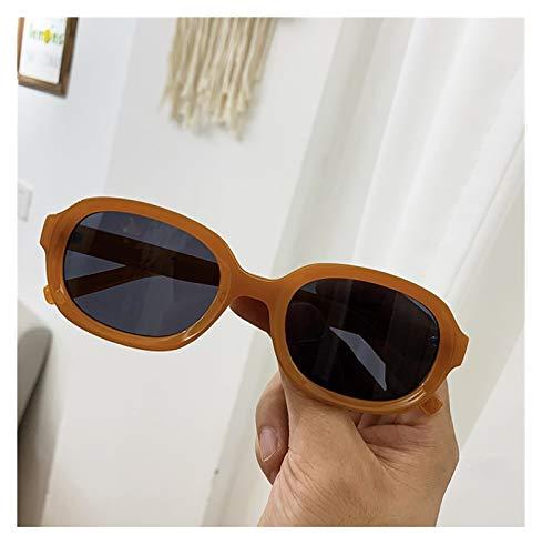 SSN Gafas De Sol De Marco Pequeño Coreano Mujer Super Harajuku Retro Personalidad Hip-Hop Hipster Gafas De Sol para Hombres (Color : C)