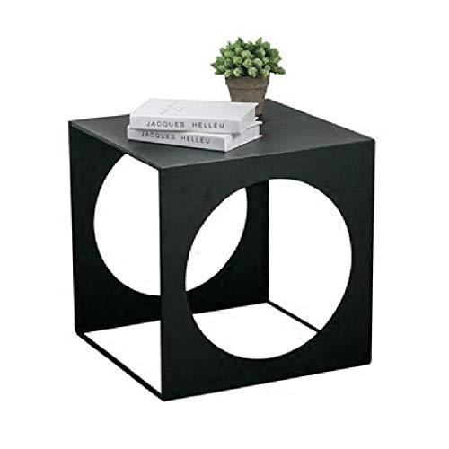 Minimalistische stijl bijzettafel, alle metaal, geometrische vorm, gemakkelijk te combineren, gebruikt in huis woonkamer, balkon, vierkant, zwart
