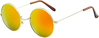 UROSA Women Men Vintage Retro Glasses Unisex Driving Round Frame Sunglasses Eyewear