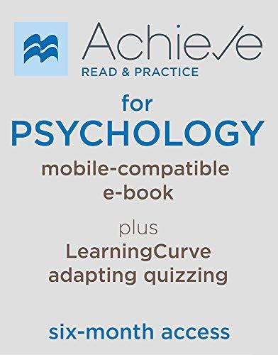 Achieve Read & Practice for Psychology (Six Months Access)