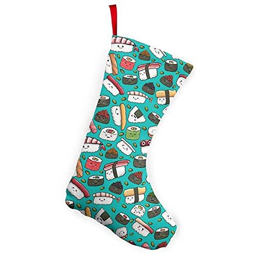 Boxer Sushi Perro Lindo Japonés Mejores Palillos Medias Temáticas Navidad Navidad Calcetines Ornamento 10 Pulgadas Decoración Una Pieza Adultos Niños Escaleras Pared Blanco 20