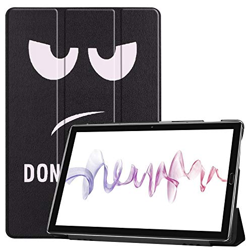 NOKOER Funda para Huawei MediaPad M6 10.8, Super Delgada Soporte Triple con Función Leather Cover, Inteligente Case [Antideslizante] [Huella Digital Anti] Protección de 360 Grados - Don`T Touch ME