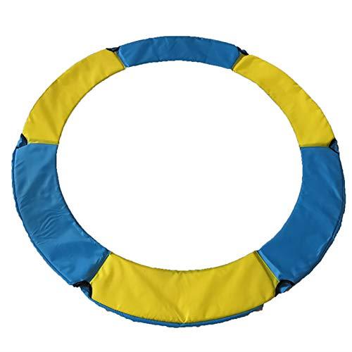 Hmpet Funda de Borde de Trampolín, 140 Funda de Resorte de 150 cm Cojín de Protección Funda de Resorte, Cojín de Marco de Repuesto de PVC PE, 20 Cm De Ancho, Azul Amarillo,150cm