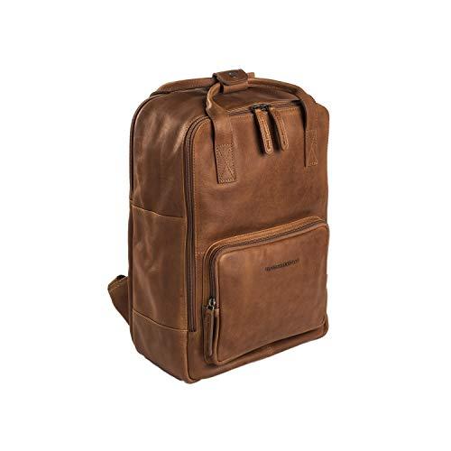 "The Chesterfield Brand Lederrucksack Cognac Belford Laptop 14\"" Zoll Laptopfach"