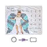 BOENTA Mantas para Bebes Manta Bebe Fondo de Manta de bebé Personalizada Manta...