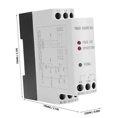 Relè di protezione della sequenza, relè di monitoraggio dei guasti compatto portatile leggero stabile per industriale per compressore d'aria