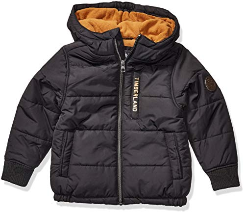 Timberland Jungen Full Zip Heavyweight Puffer Jacket Daunenalternative, Mantel, schwarz, S8 US