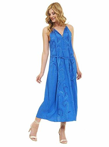 Robert Graham Tania Sleeveless Woven Dress Royal XSmall