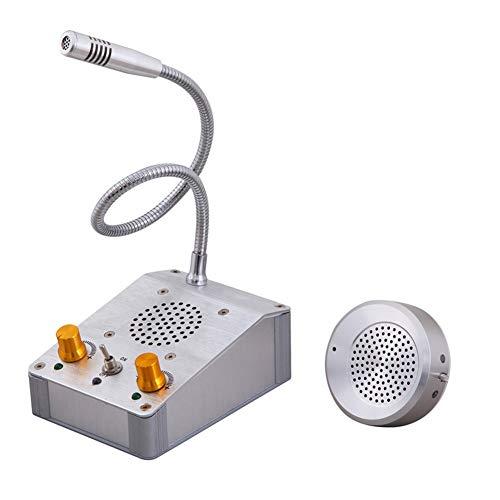 Zwei-Wege-Intercom-System Aluminiumlegierung Hochwertige Lautsprecher Dual-Way-Zähler Interphone Geeignet Für Bank/Krankenhaus/Schalter/Station/Ticket/Fast Food/Restaurant/Stand
