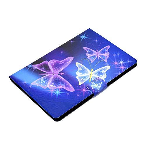 AsWant Lenovo Tab M10 / M10 HD 1. Generation Schutzhülle PU Leder Flip Cover Brieftasche Kartensteckplatz Magnet Tablet Hülle für Lenovo Tab M10 / Lenovo Tab M10 HD - Blitzschmetterling