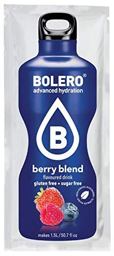 Bolero Bebida Instantánea sin Azúcar, Sabor Bayas - Paquete de 12 x 9 gr - Total: 108 gr