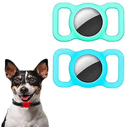 SKYWPOJU 2 paczki silikonowe etui ochronne dla zwierząt, ochraniacz na obrożę dla zwierząt, regulowane śledzenie GPS akcesoria dla psów i kotów Anti-lost Locator AirTags