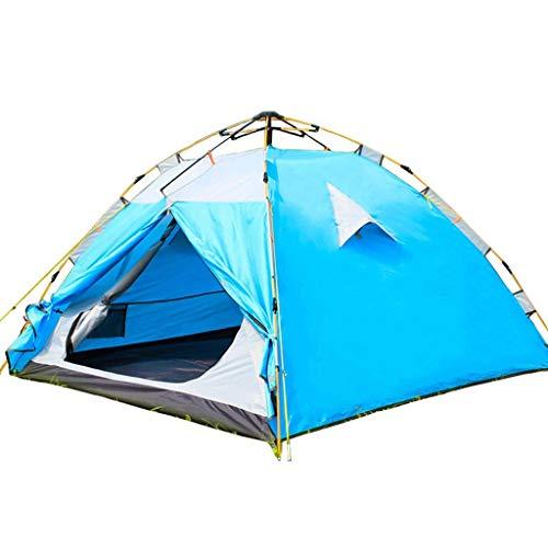 YASE-king Tienda automática al aire libre de 3-4 personas dos habitaciones y una sala de estar familiar doble 2 personas doble acampar campo acampar larga cuenta de cremallera impermeable de Asuntos E