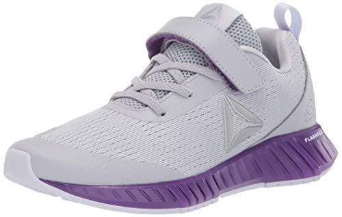Reebok Girls FLASHFILM Runner ALT Running Shoe, Grey/Purple/Lilac, 2 M US Big Kid