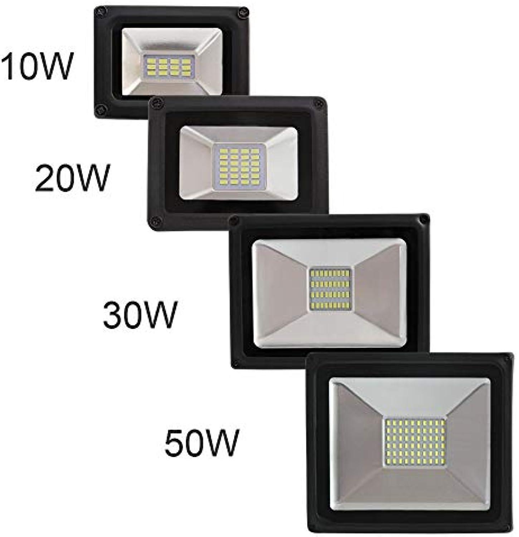 DLKKL Led Flutlicht 10 Watt 20 Watt 30 Watt 50 Watt Dünne Led Flutlicht Scheinwerfer 220 V Wasserdichte Wandleuchte Outdoor Flutlichter