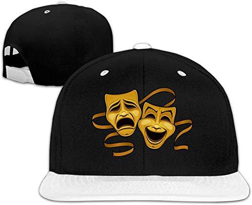 sanuo Comedy Tragedy Drama Theater Masks Womans Men's Flat Eaves Peak Cap Hip Hop Peak Cap Free Regulating