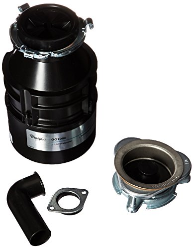 Whirlpool GC1000PE 1/3 hp in Sink Disposer, Black
