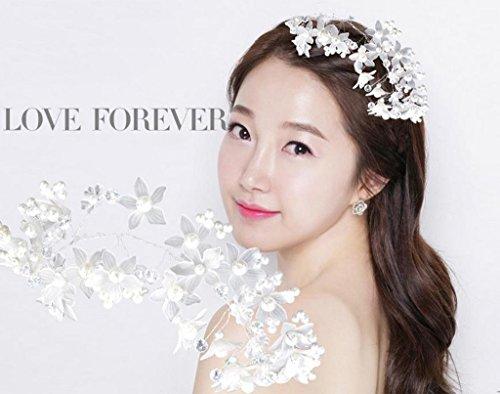 & Coiffe des fleurs de la Couronne anacarde Coiffure de jeune mariée Coréenne Perle blanche Adhésifs pour cheveux en fleurs Accessoires pour robe de mariée Boucle de cheveux en forme de fleur couronne de couronnes de fleurs