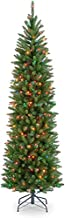 National Tree Company lit Artificial Christmas Tree Includes Pre-strung Multi-Color Lights and Stand, Kingswood Fir Slim - 6.5 ft, Green