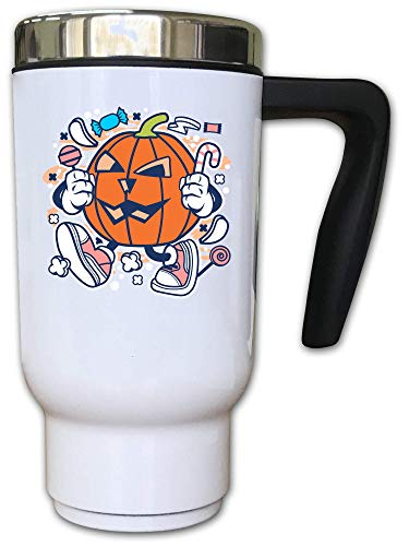 Iprints Cartoon Style Pumpkin Halloween Trick Or Treat Thermal Tea Mok