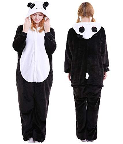 Pijama Fantasia Kigurumi Panda Macacão com Capuz Unissex Tamanho: G 1,67-1,78
